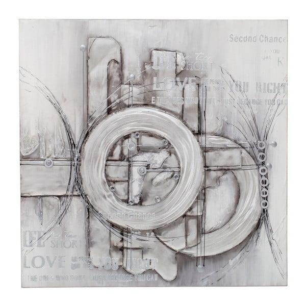 Ručně malovaný nástěnný obraz Mauro Ferretti Dipinto Su Tela Bolts, 100 x 100 cm