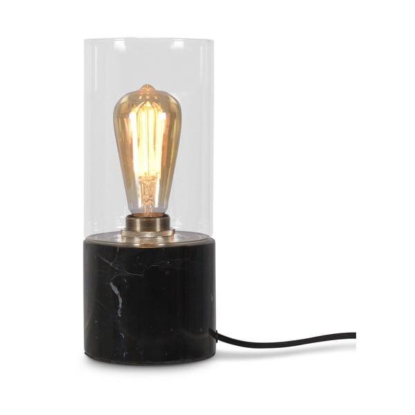 Čierna mramorová stolová lampa Citylights Athens, výška 25 cm