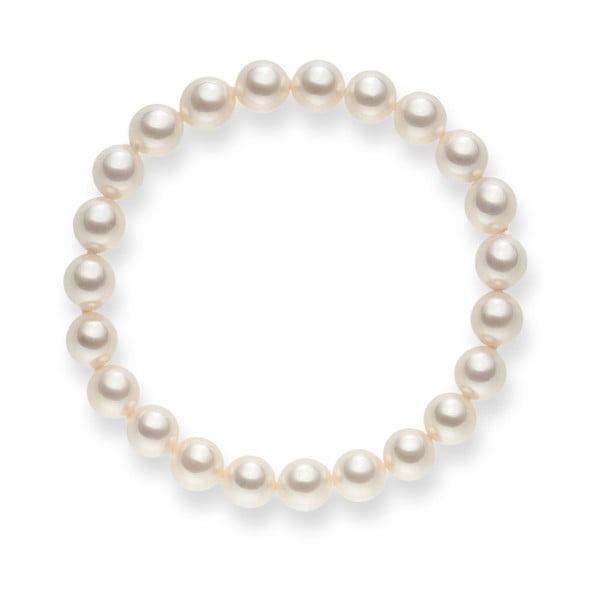 Mystic fehér gyöngy karkötő, hossz 19 cm - Pearls of London