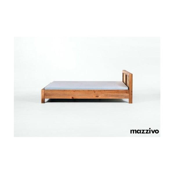 Postel Bauhaus z olšového dřeva, 180x200 cm, natural