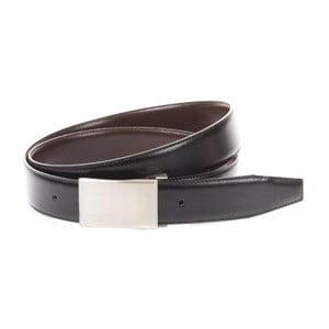 Černý pánský pásek Trussardi Gentlemen, délka 110 - 125 cm