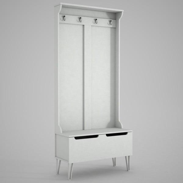 Ratto Floria fehér szekrény tükörrel