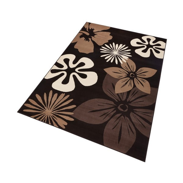 Koberec Hanse Home Gloria Flower Brownie, 160 x 230 cm