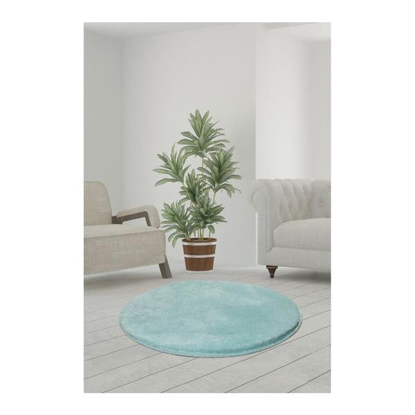 Jasnoturkusowy dywan Milano, ⌀ 90 cm
