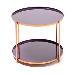 Fialový odkládací stolek 360 Living Romy 322, ⌀ 57 cm