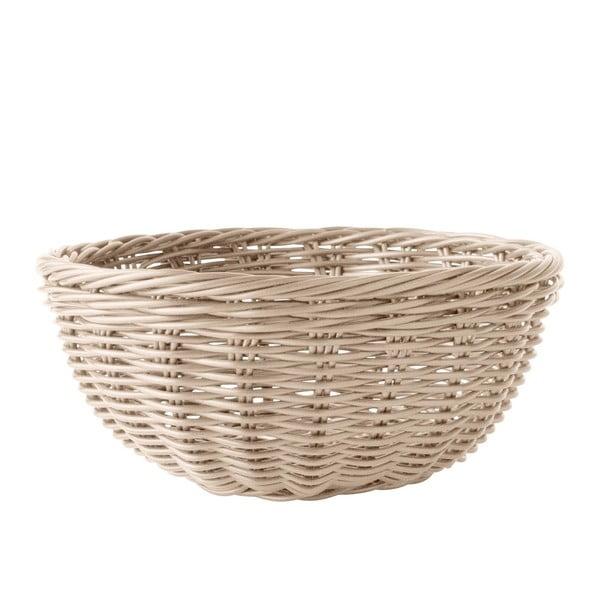 Košík na pečivo, hnědý