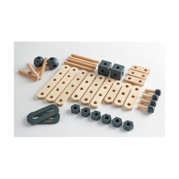 Zestaw drewnianych śrubek i kołków do zabawy Flexa Toys Toolbox