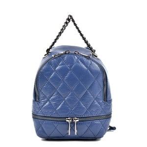 Modrý kožený batoh Roberta M Ruhmalo