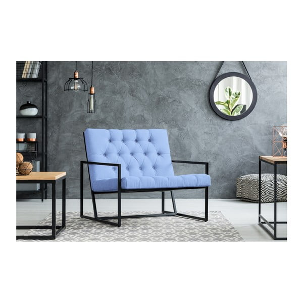Světle modré křeslo Mazzini Sofas Aster