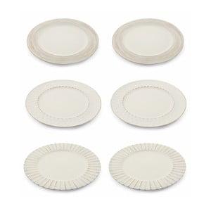 Sada 6 bílých vánočních dekorativních plastových talířů Villa d'Este XMAS Piatto Blanco Moderno, ⌀ 33 cm