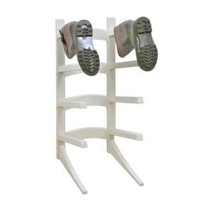 Bílý stojan na 4 páry bot z borovicového dřeva Esschert Design Wellies