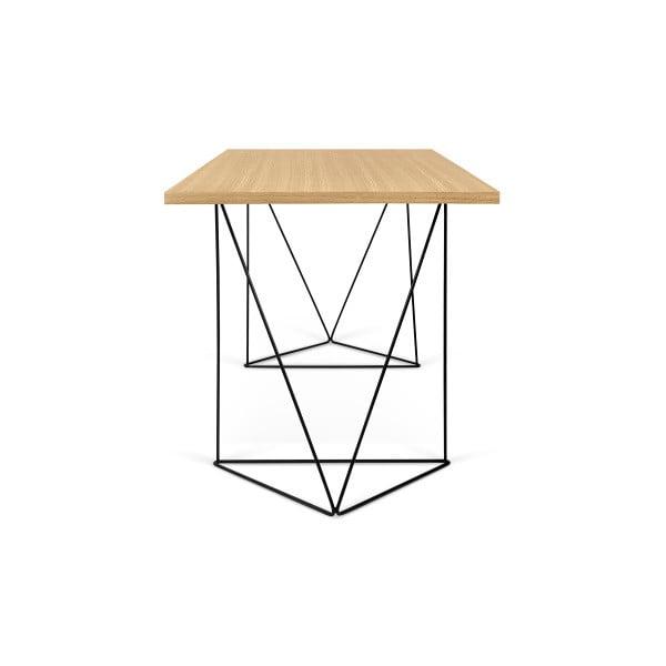 Pracovní stůl s černými nohami TemaHome Flow