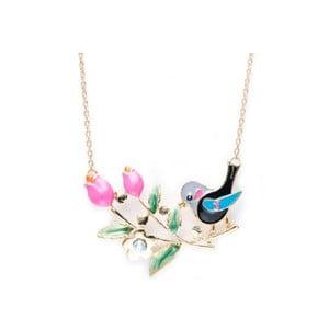 Náhrdelník Bird and Flowers