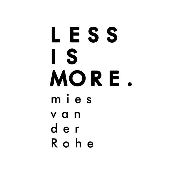 Dekorativní nástěnná samolepka Less Is More