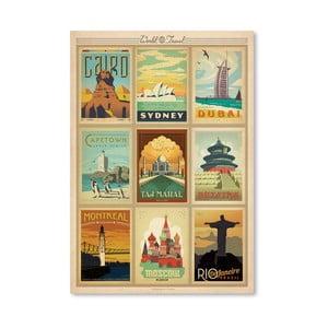 Plakát Americanflat World, 42 x 30 cm