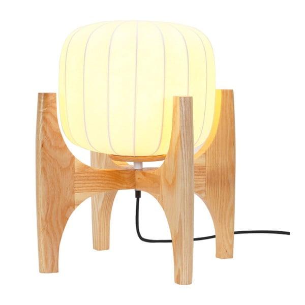 Bílá stolní lampa s hedvábným stínítkem Garageeight Tom