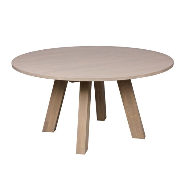 Jídelní stůl z běleného dubového dřeva De Eekhoorn Rhonda, Ø150cm