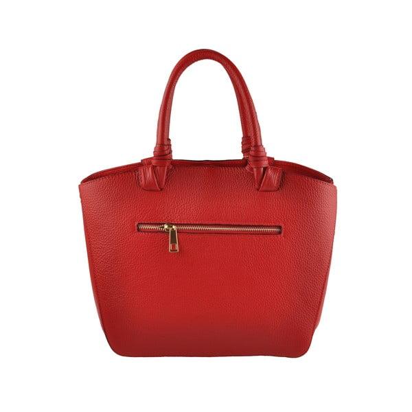 Kožená kabelka Emilio Masi Bristol, červená