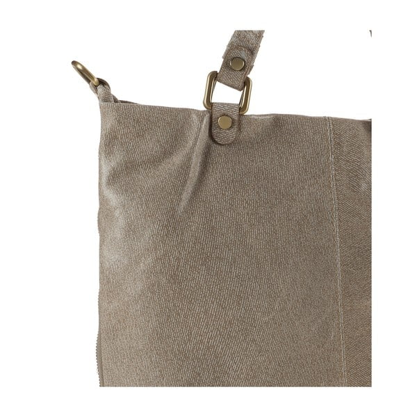Kožená kabelka Ore Diece Affile, taupe
