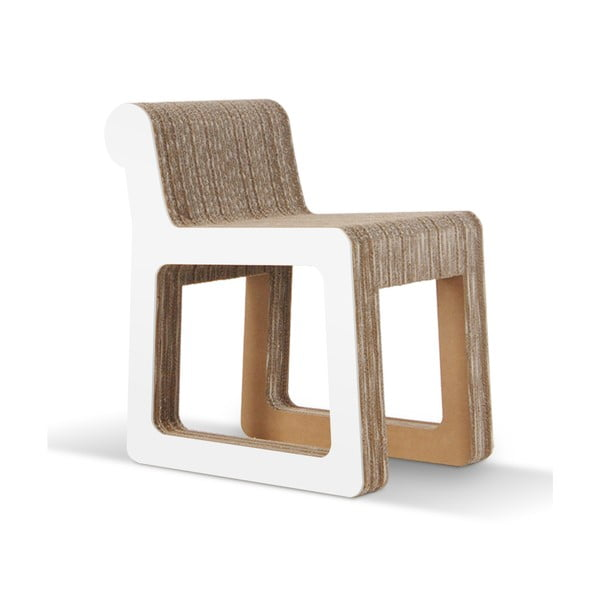 Kartonová židle Knob White