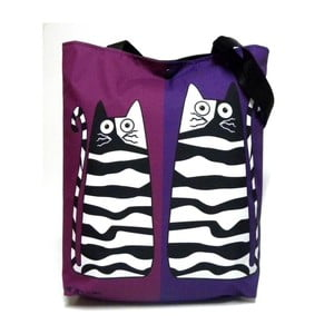 Velká taška Fialové kočky