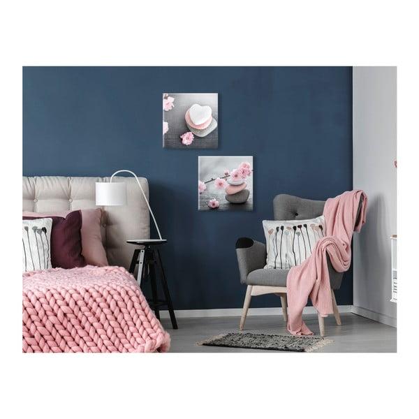 Obraz Styler Glasspik Spa & Zen Pink Stone, 30 x 30 cm