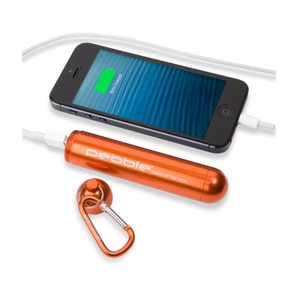 Cestovní nabíječka Pebble Smartstick VPP-004, oranžová