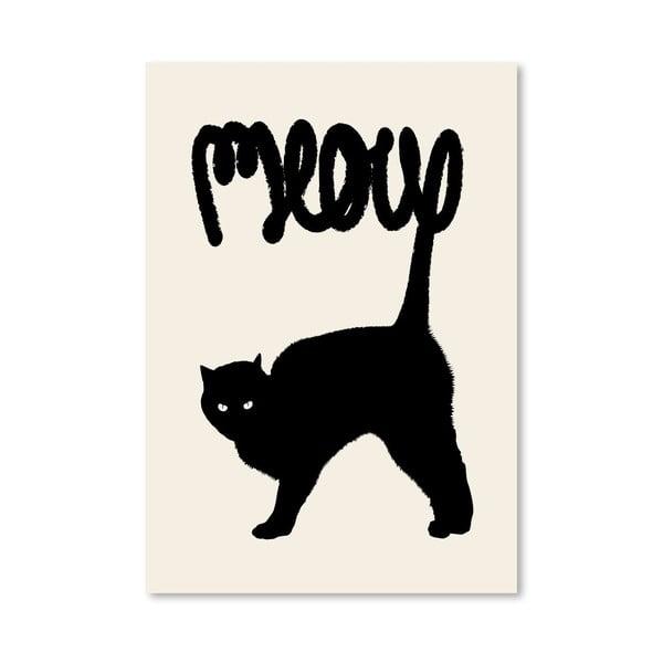 Plakát Meow od Florenta Bodart, 30x42 cm