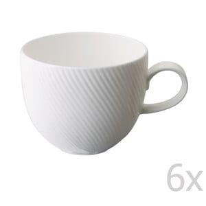 Sada 6 hrnků z kostního porcelánu Flute, 375 ml