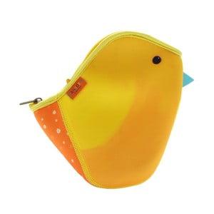Oranžová neoprenová taška ve tvaru ptáčka Santoro London