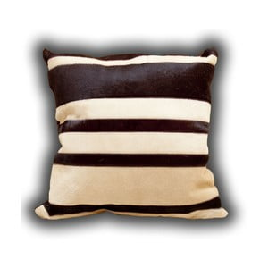 Pernă din piele Stripes, 45x45 cm