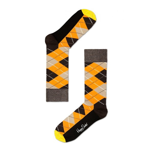 Ponožky Happy Socks Mustard and Grey, vel. 36-40