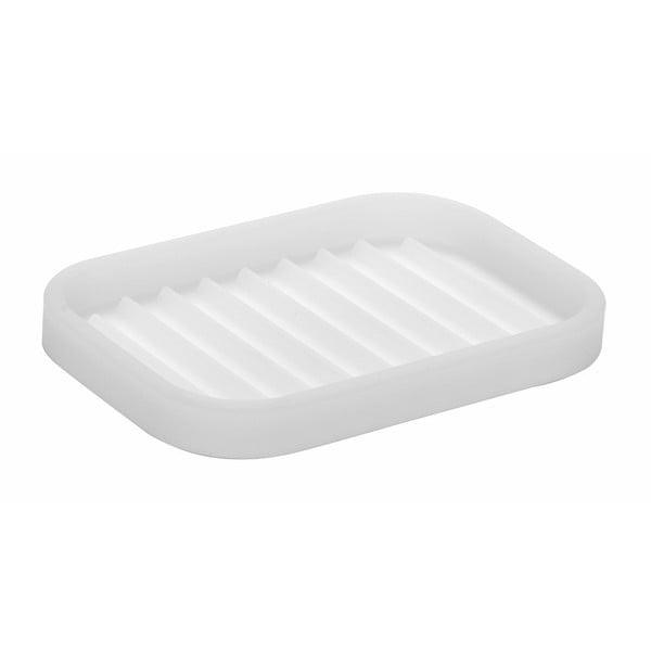 Biela podložka pod mydlo InterDesign Lineo, 12,5x9cm