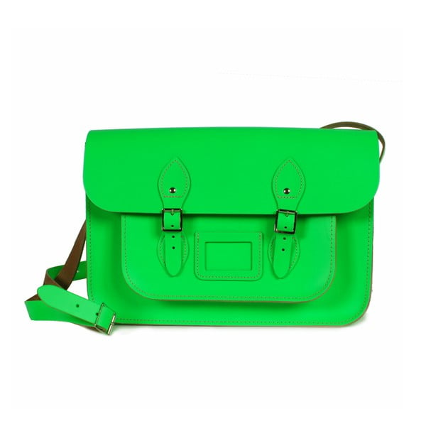 """Kabelka Satchel 14"""", neonově zelená"""