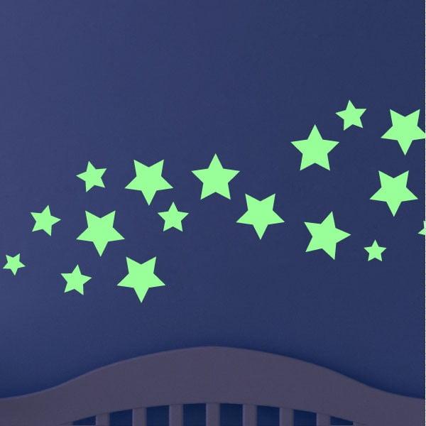 Svítící samolepka Ambiance Simple Stars