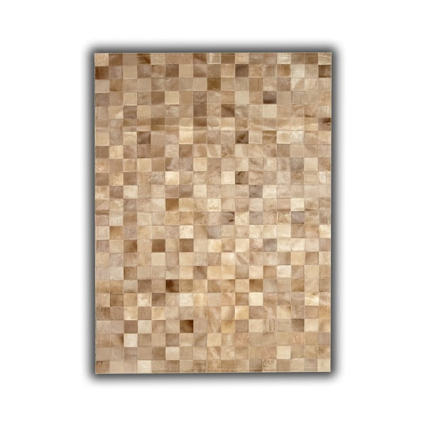Koberec z pravé kůže Beige Tones, 140x200 cm
