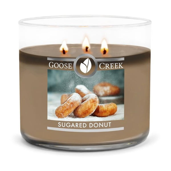 Lumânare parfumată în recipient de sticlă Goose Creek Sugared Donut, 35 ore de ardere