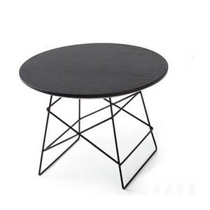 Černý odkládací stůl Innovation Grid, 45cm