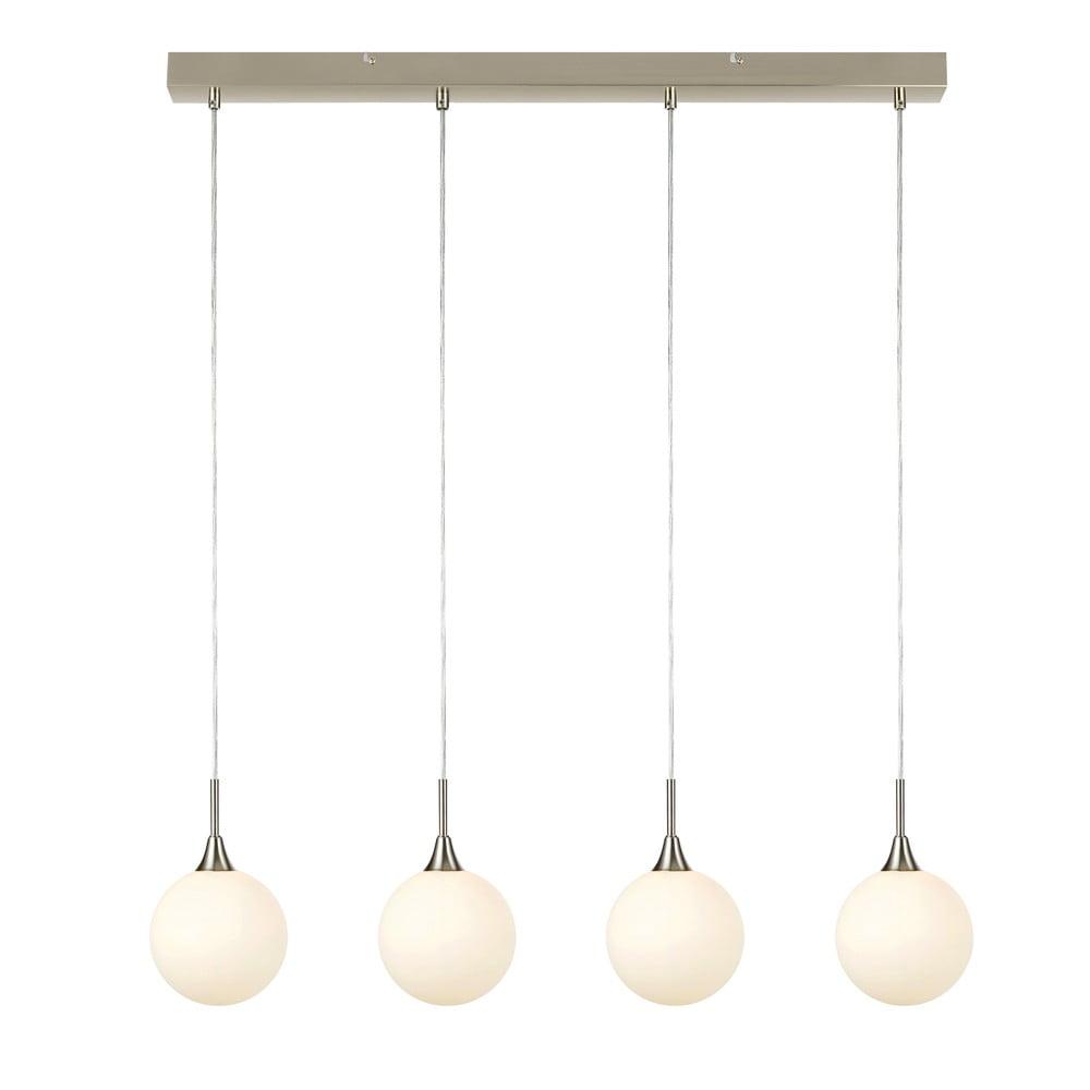 Závěsné svítidlo ve stříbrné barvě Markslöjd Quattro XL Pendant Steel