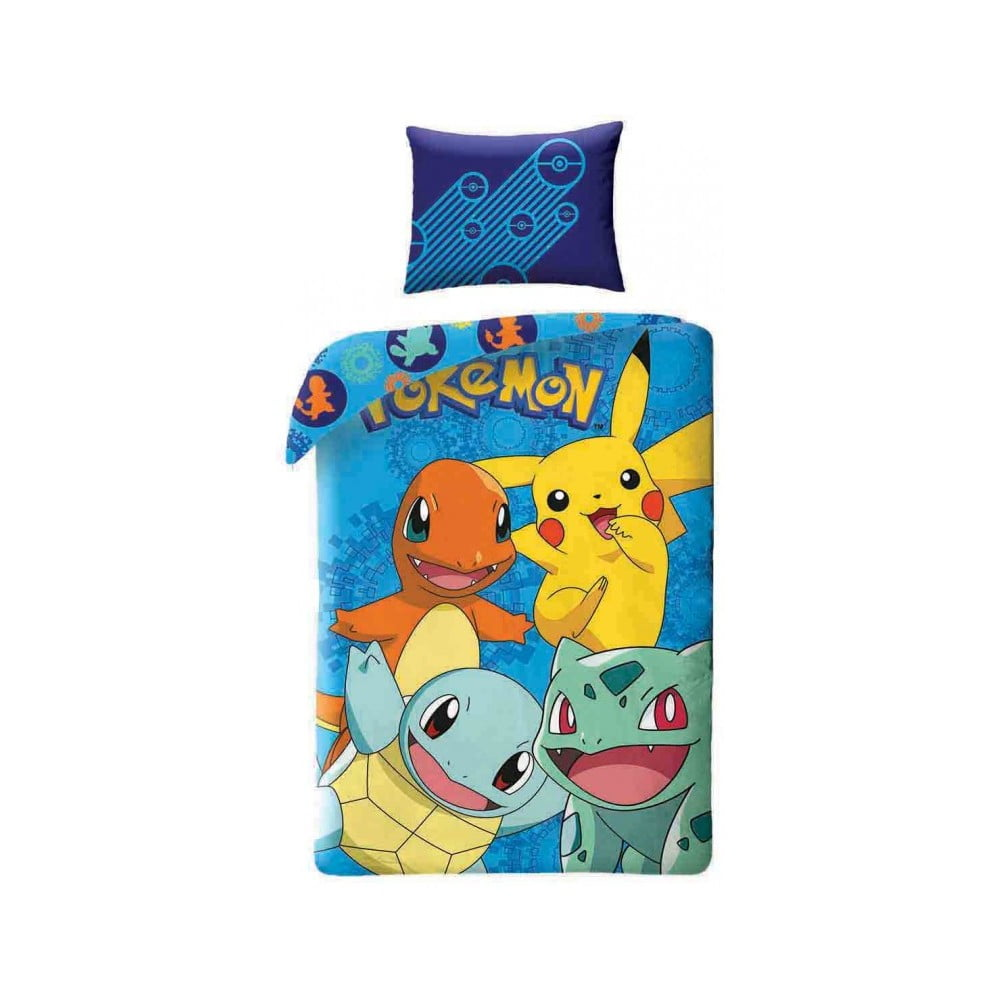 Dětské bavlněné povlečení Halantex Pokemon, 140 x 200 cm