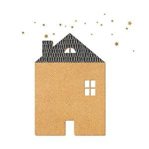 Dekorativní samolepící nástěnka Dekornik Black House With Stars