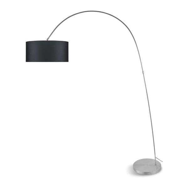 Šedá volně stojící lampa s tmavě šedým stínidlem Citylights Bolivia
