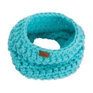 Tyrkysově modrá ručně háčkovaná kruhová šála DOKE Mint
