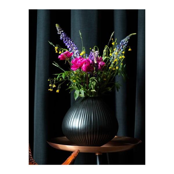 Černá váza Fuhrhome Oslo, Ø30cm