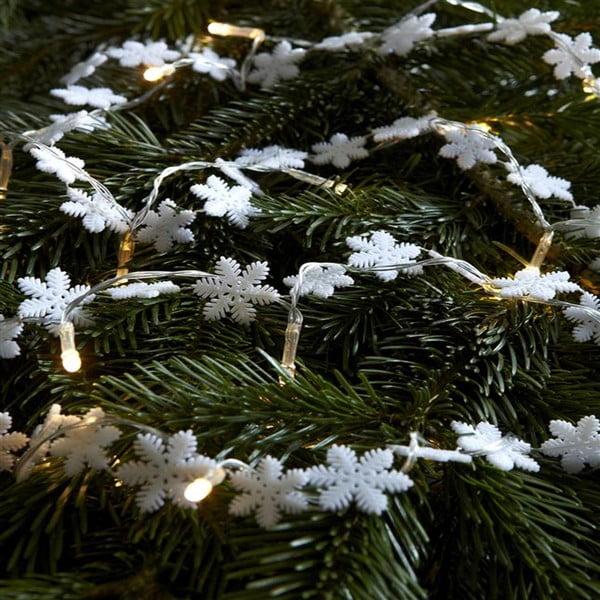 Světelný LED řetěz Markslöjd Snöstjarna, délka 180cm
