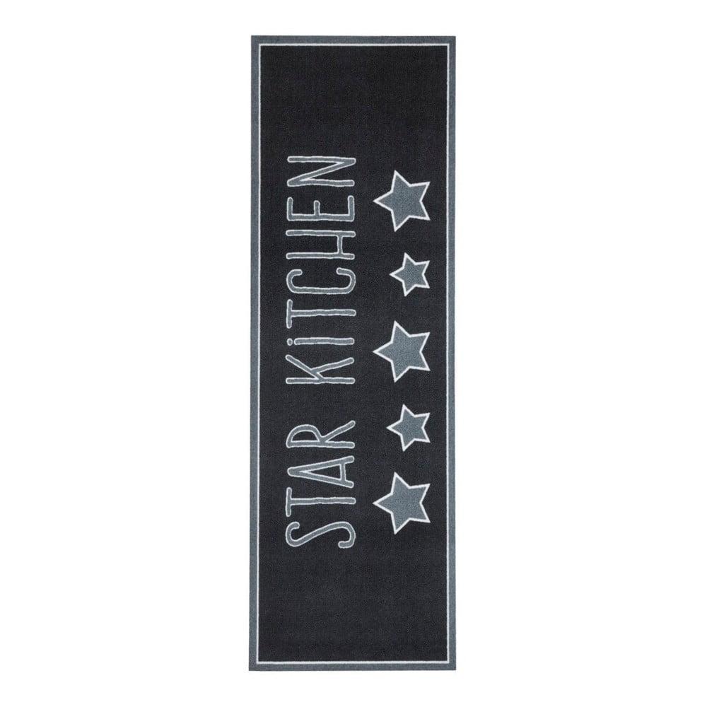 Černý kuchyňský koberec Hanse Home Star, 50 x 150 cm