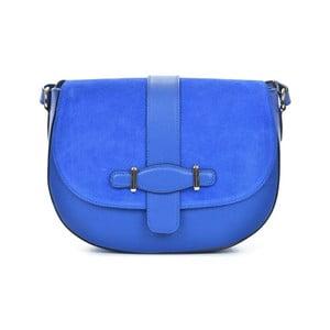 Modrá kožená kabelka Mangotti Bags Adona