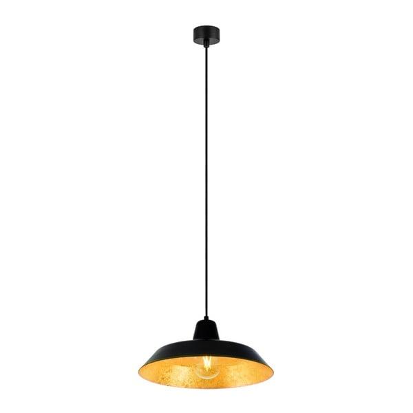 Černé stropní svítidlo s vnitřkem ve zlaté barvě Bulb Attack Cinco, ⌀35cm