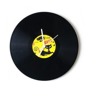 Vinylové hodiny Love Cats