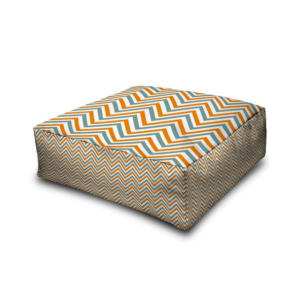 Puf Margao Geometric Orange